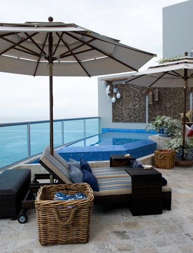 Entre el cielo y el mar revista hogar ecuador - Piscina pequena terraza ...